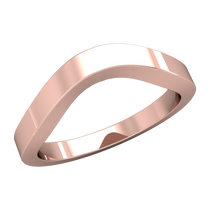 Load image into Gallery viewer, Flat Contour Wedding Band