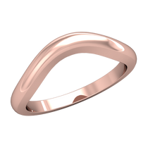 Load image into Gallery viewer, Half-Round Contour Wedding Band