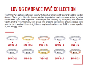10 Piece Pave Wedding Band Display