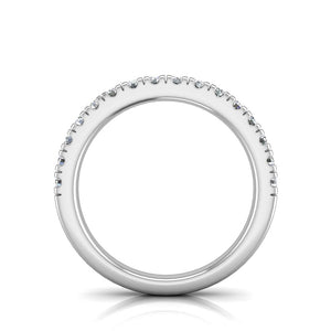 W-3VC2  Pavé Set Wedding Band 1/2 Carat TDW