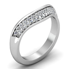 Load image into Gallery viewer, CWB-Q   Concave Pave Contour Diamond Band .29 ct. T.D.W