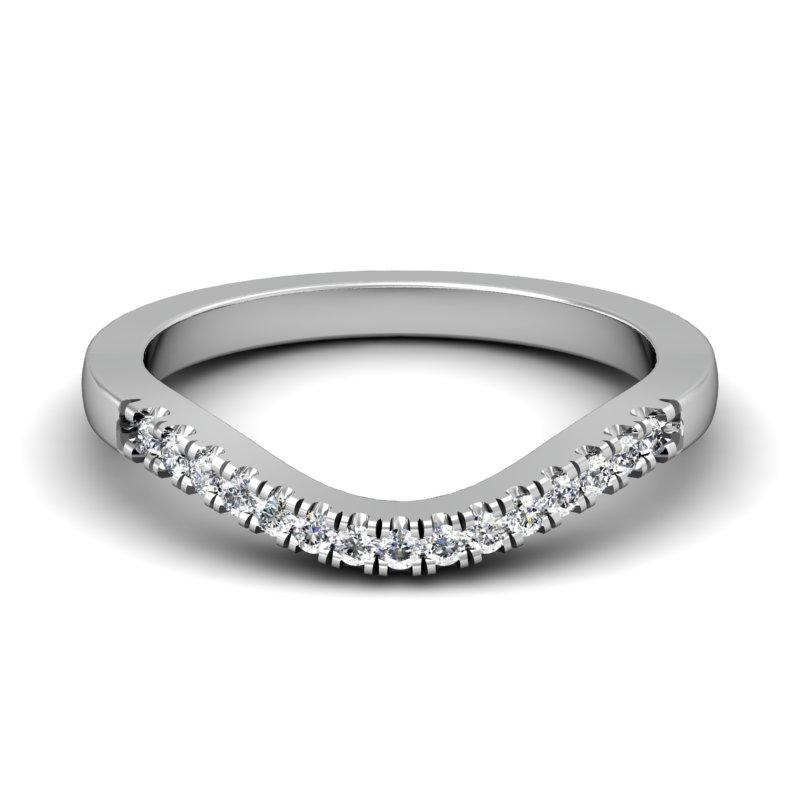 CWB-A    Fifteen Stone Contour Band .15ct T.D.W