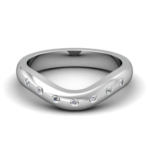 CWB-V Single Row Burnished Diamond Band .11 ct. T.D.W