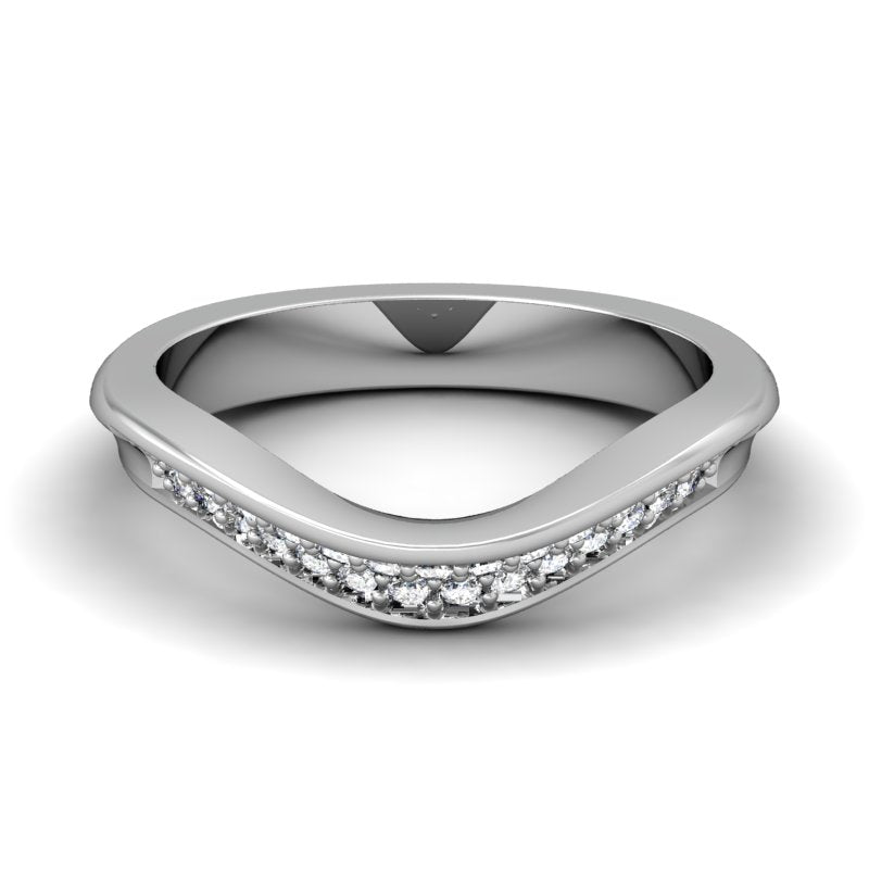 CWB-Q   Concave Pave Contour Diamond Band .29 ct. T.D.W