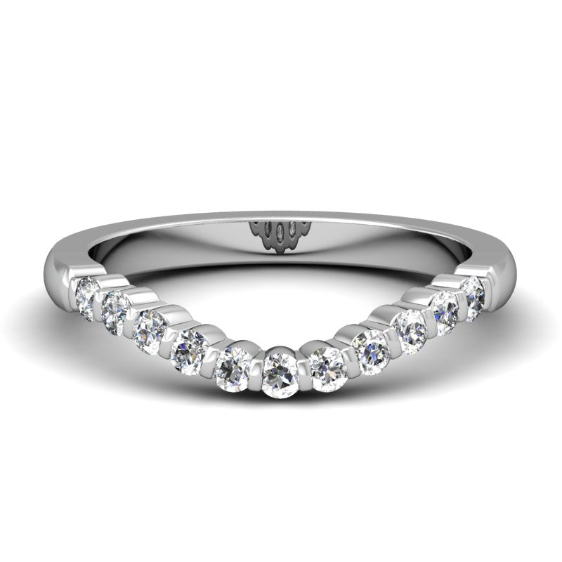 CWB-U Bar Set Diamond Band .22 ct. T.D.W