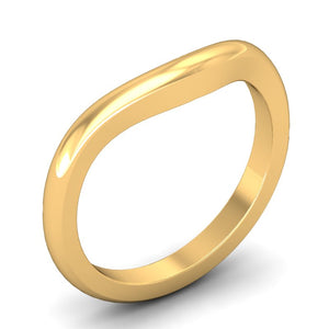 Half-Round Contour Wedding Band