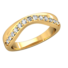Load image into Gallery viewer, CWB-W Two Toned Diamond Band .20 ct. T.D.W