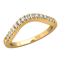 Load image into Gallery viewer, CWB-A    Fifteen Stone Contour Band .15ct T.D.W