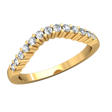 Load image into Gallery viewer, CWB-D    Thirteen Stone Contour Band .26ct T.D.W