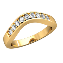 Load image into Gallery viewer, CWB-R Milgrain Pave Contour Diamond Band .18 ct. T.D.W