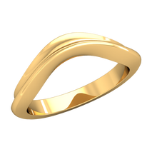 Load image into Gallery viewer, Concave Contour Wedding Band