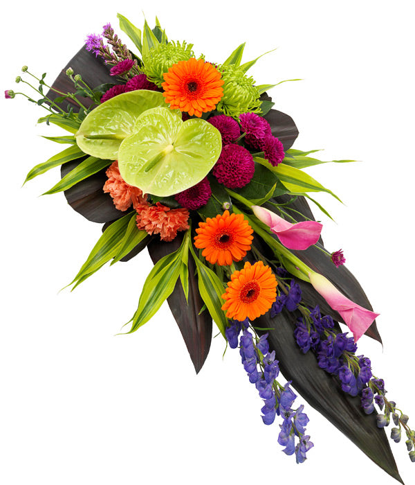 Vibrant Single Ended Casket Spray