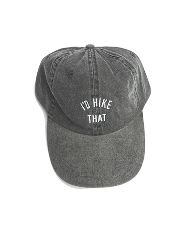 I'd Hike That Dad Hat | Charcoal