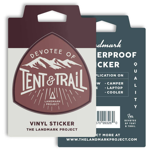 Tent and Trail Sticker