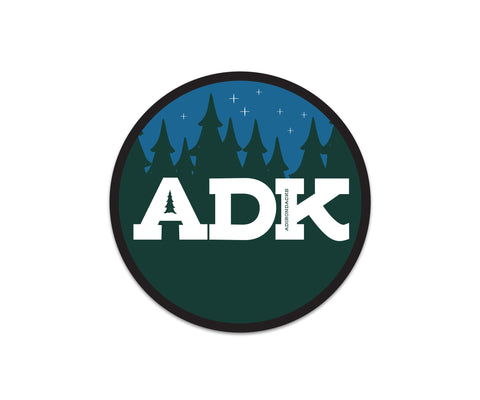 Adirondacks Night Circle Sticker