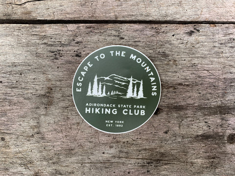 Escape to the Mountains Sticker