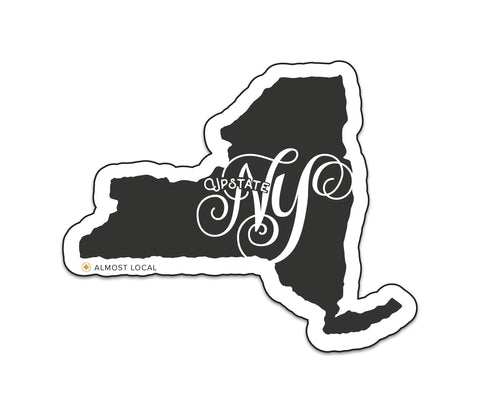 Upstate New York Script Magnet