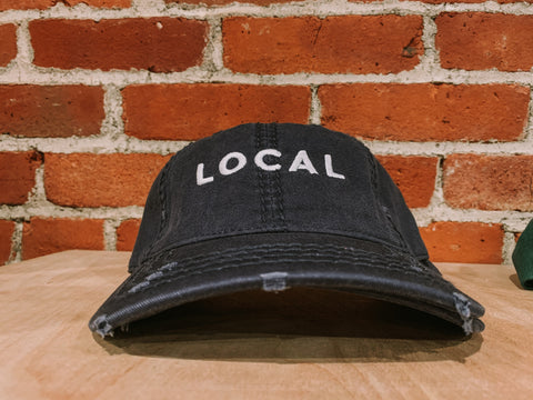 Local Distressed Dad Cap - Navy