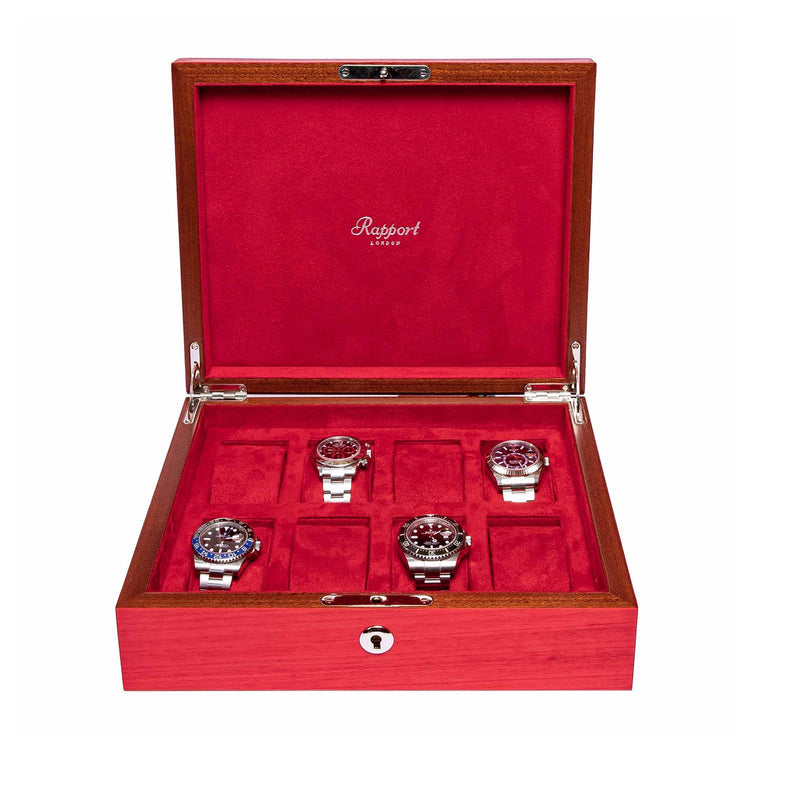 Rapport-Watch Box-Heritage Eight Watch Box-Red
