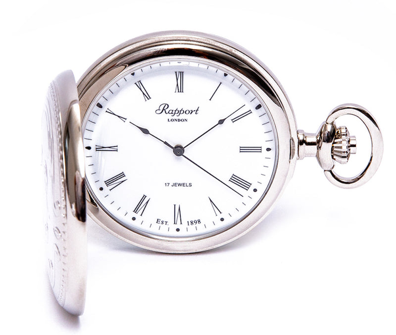 Mechanical Full Hunter Silver Pocket Watch