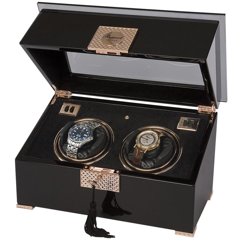 Rapport-Watch Winder-Black Rose Duo Watch Winder-