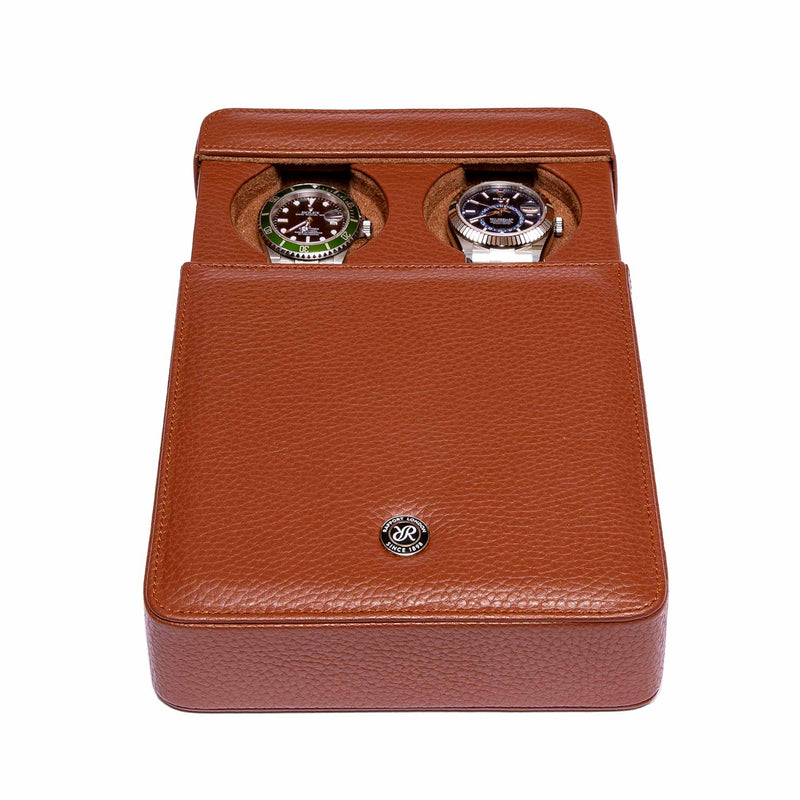 Rapport-Watch Accessories-Berkeley Double Watch Slipcase-Tan