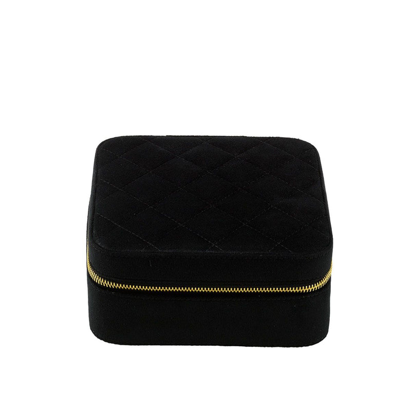 Rapport-Ladies-Marilyn Velvet Jewellery Case-Black