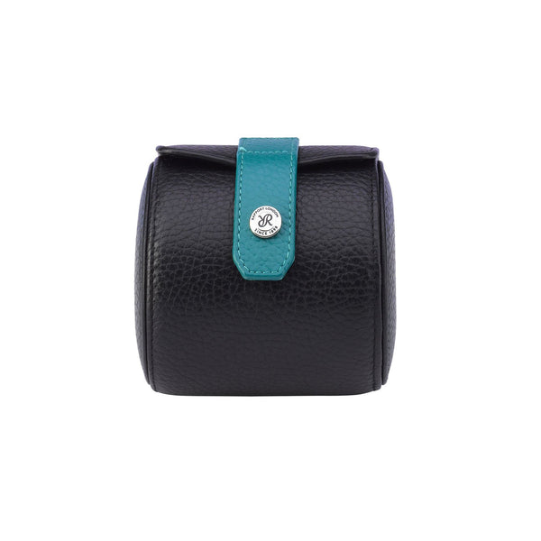 Rapport-Watch Accessories-Cooper Single Watch Roll-Black and Teal
