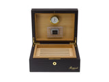 Rapport-Mens-Brompton Small Leather Humidor-Brown