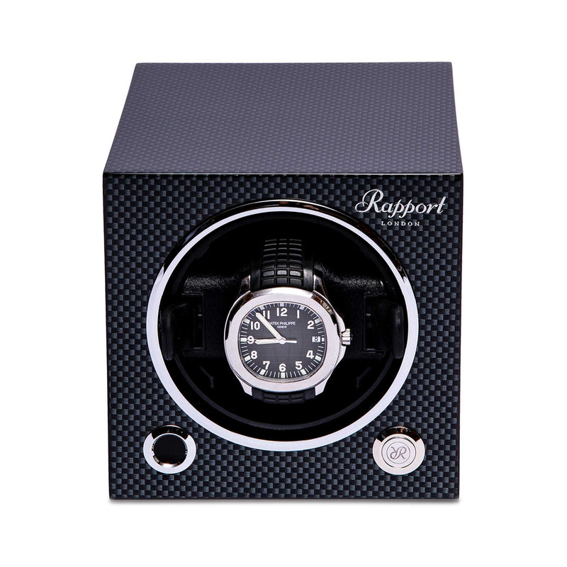 Rapport-Watch Winder-Evo Single Watch Winder-Carbon Fibre