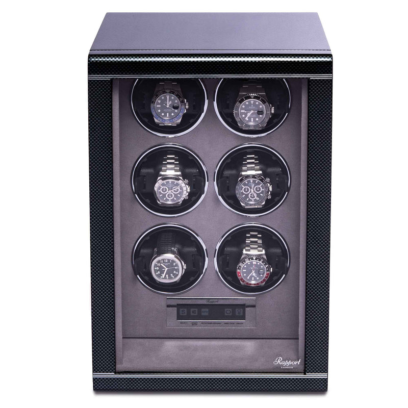 Rapport-Watch Winder-Formula Six Watch Winder-Carbon Fibre