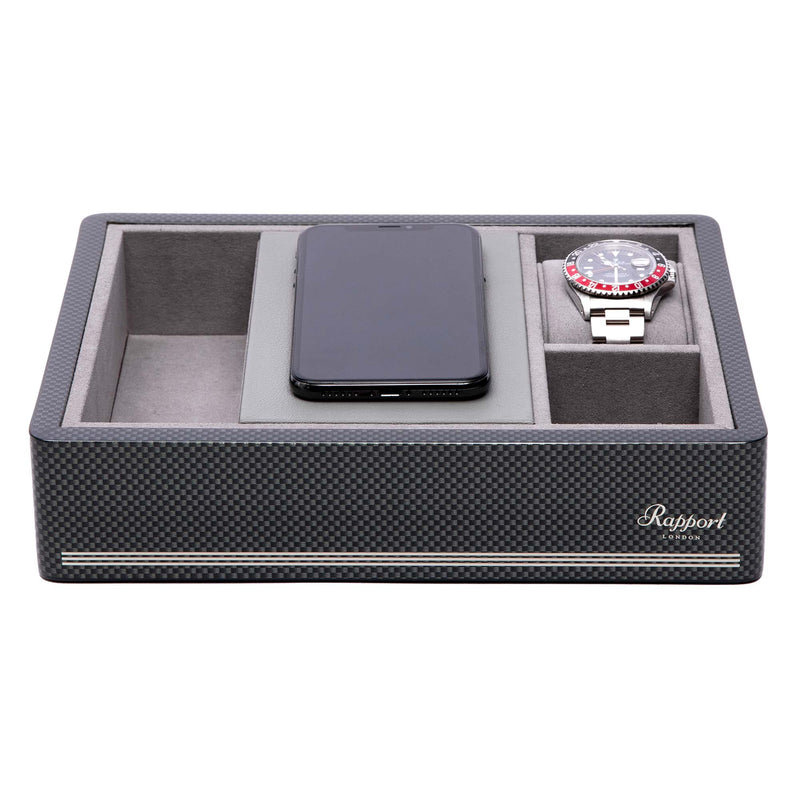 Rapport-Watch Accessories-Wireless Charging Tray Carbon Fibre-