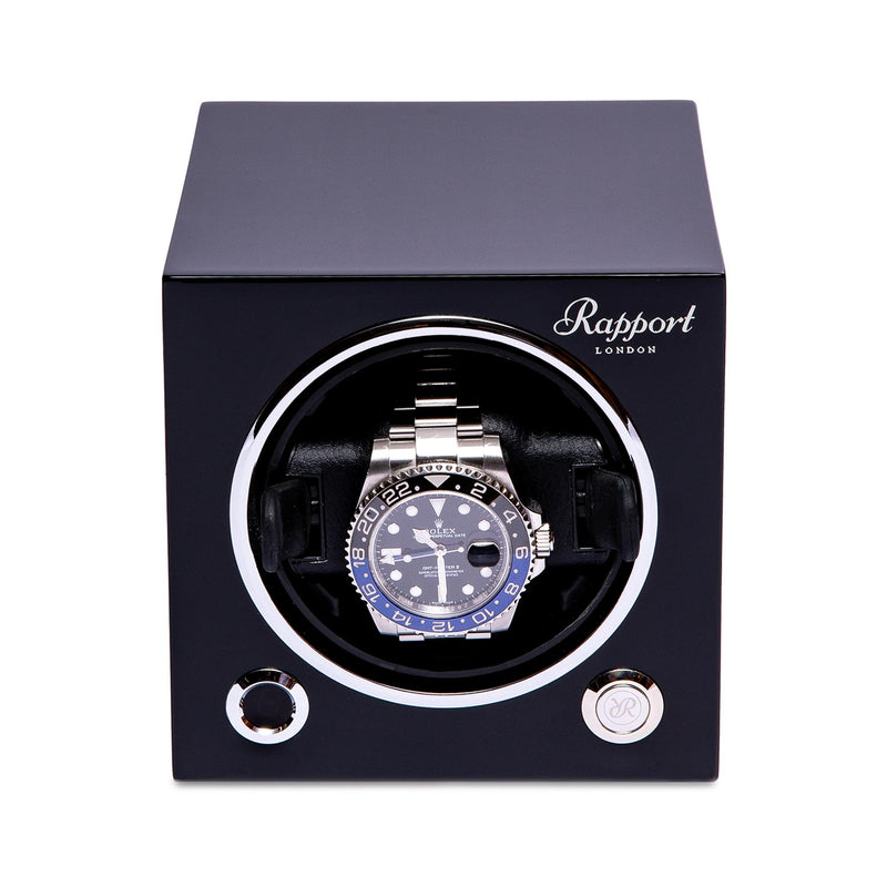 Rapport-Watch Winder-Evo Single Watch Winder-Black