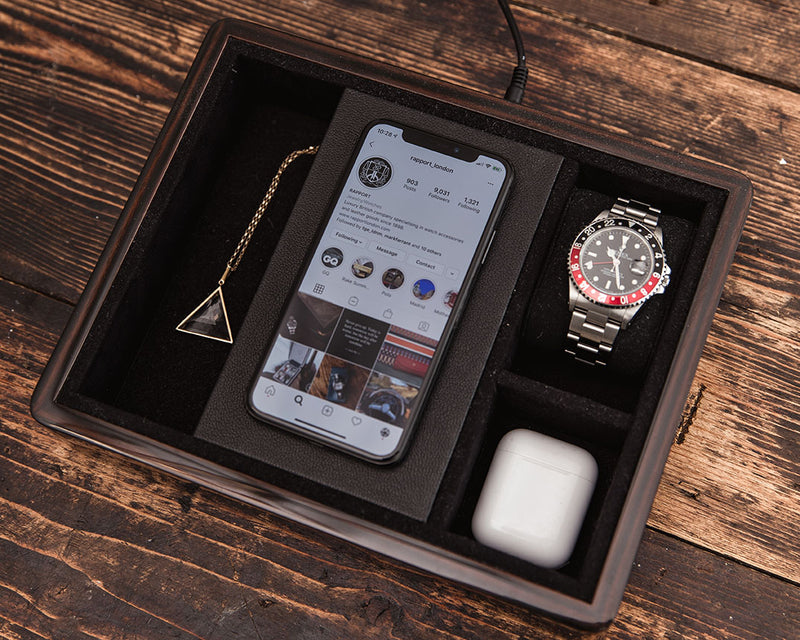 Wireless Charging Tray Macassar
