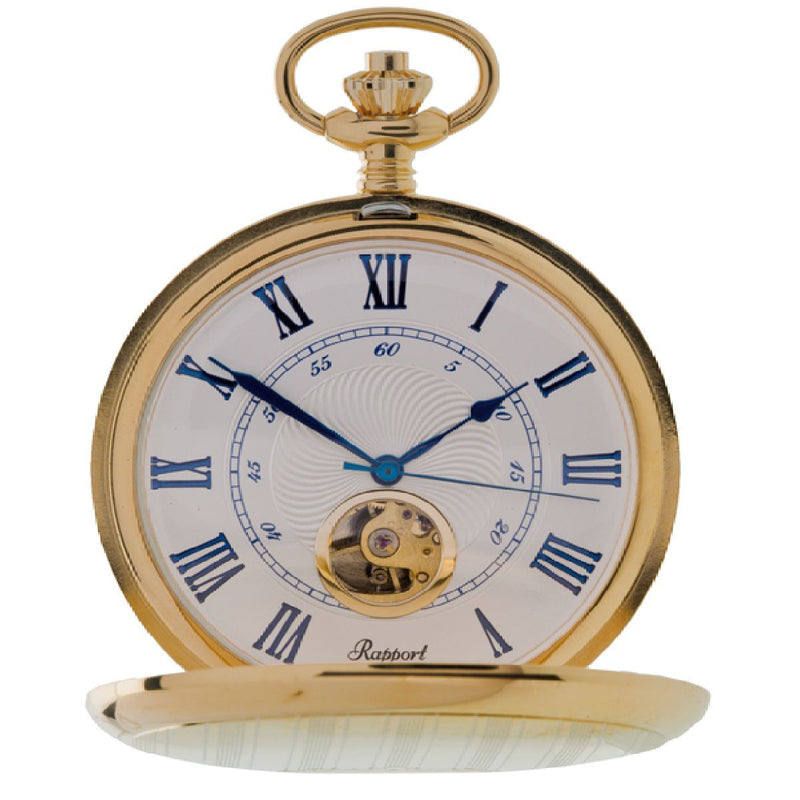 Full Hunter Gold Plated Pocket Watch 52mm