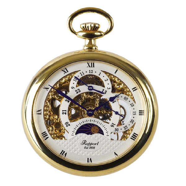 Open Face Gold Plated Pocket Watch