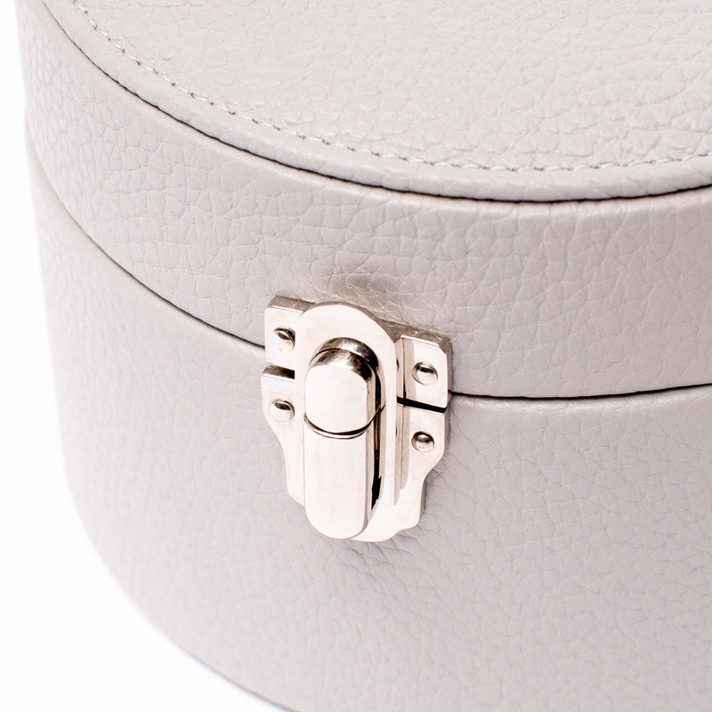 Rapport-Ladies-Grey Round Jewellery Box-