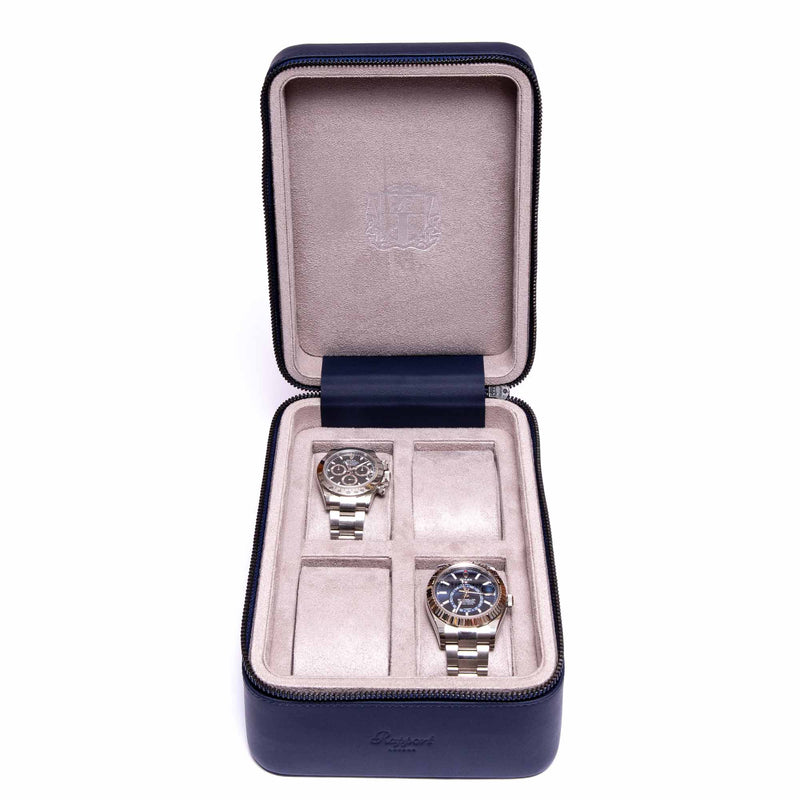 Rapport-Watch Accessories-Hyde Park Four Watch Zip Case-