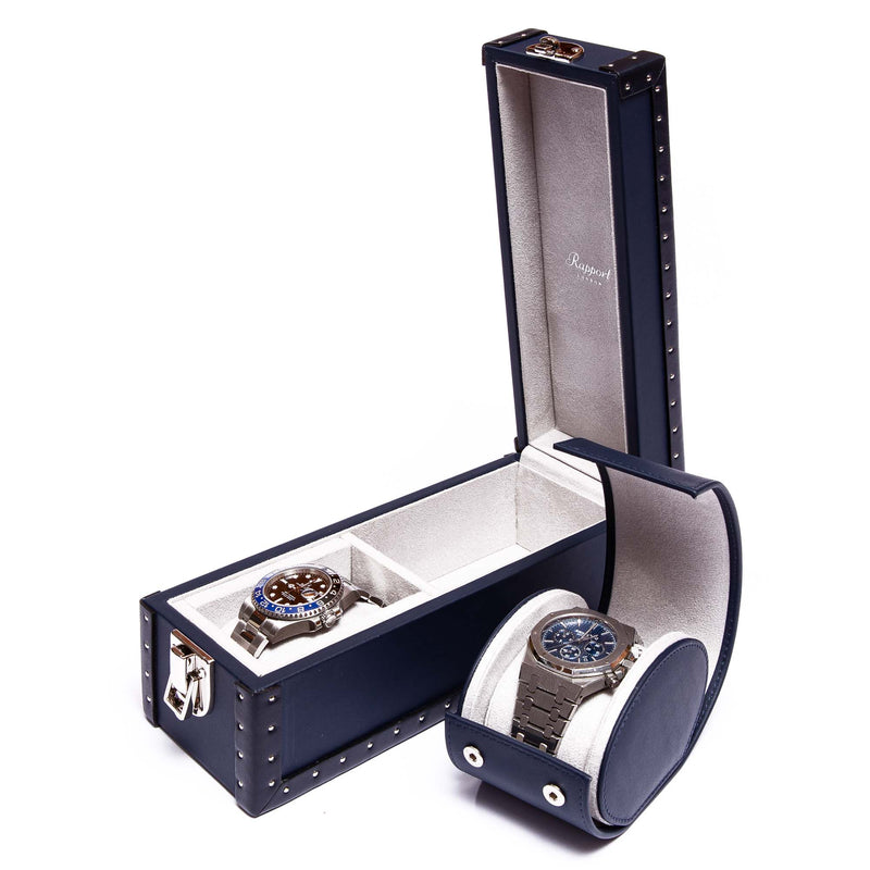 Rapport-Watch Box-Kensington Two Watch Box-Blue