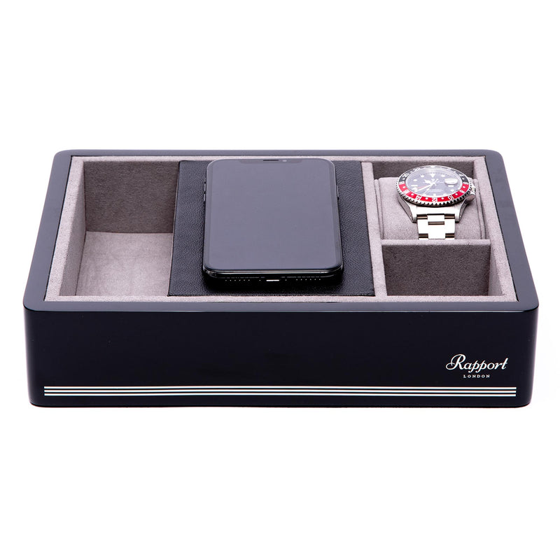 Rapport-Watch Accessories-Wireless Charging Tray Black-