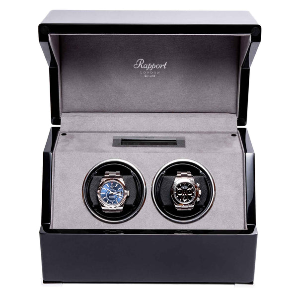 Rapport-Watch Winder-Perpetua III Duo Watch Winder-Black