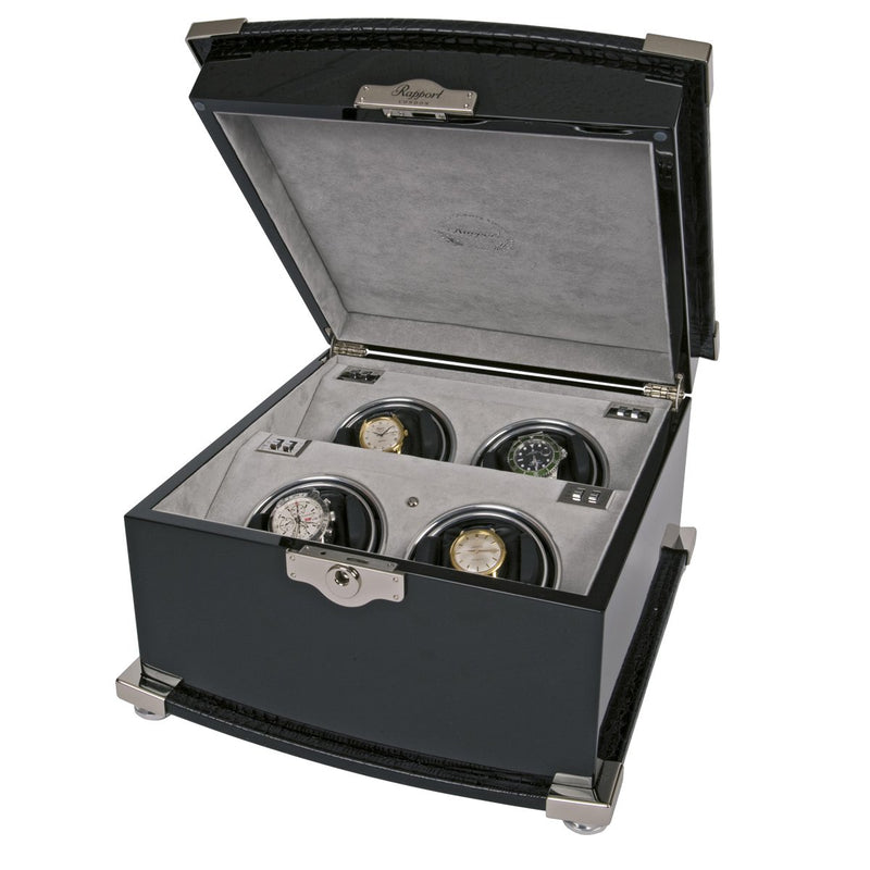 Rapport-Watch Winder-Serpentine Quad Watch Winder-