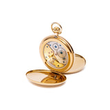 Mechanical Double Hunter Gold Plated Pocket Watch