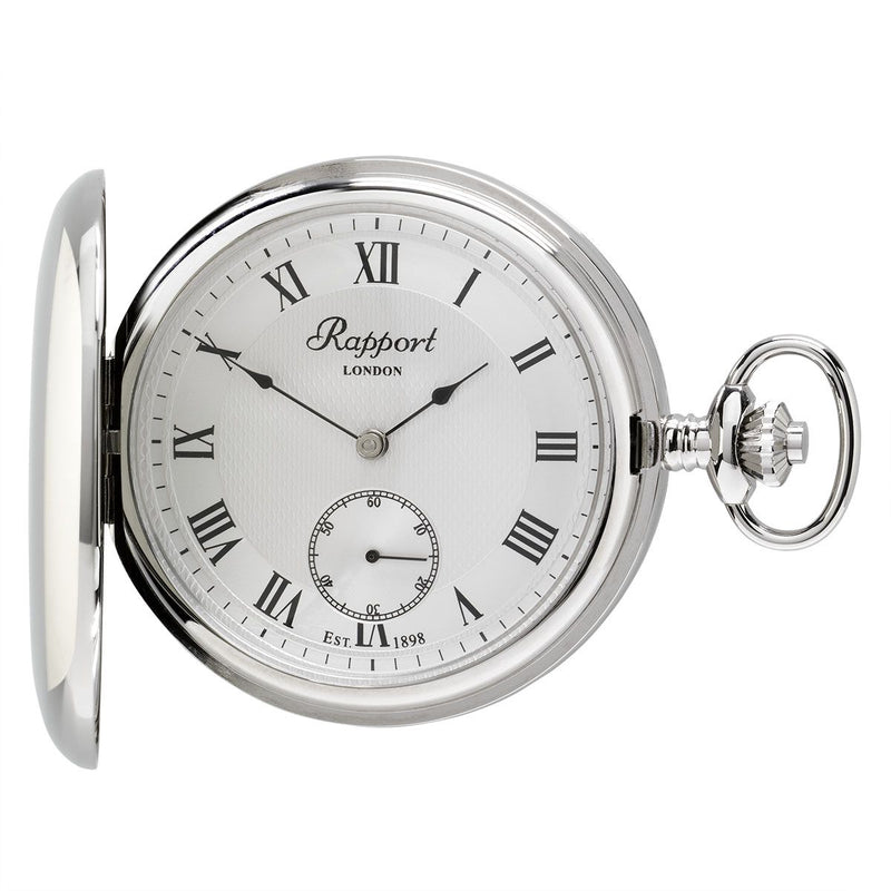 Rapport-Watch Accessories-Mechanical Full Hunter Pocket Watch-Silver