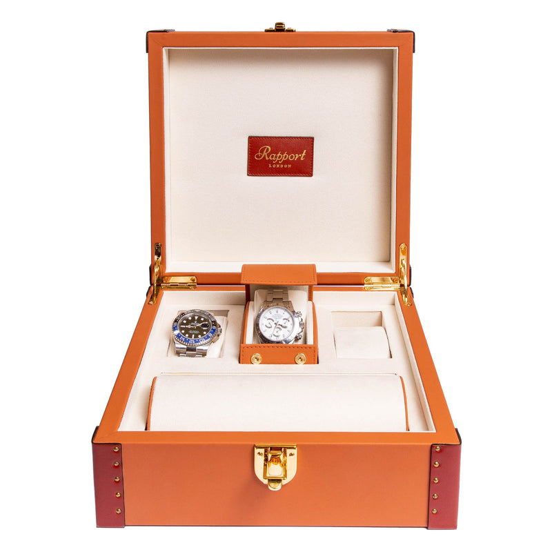 Rapport-Watch Box-Kensington Six Watch Box-Tan