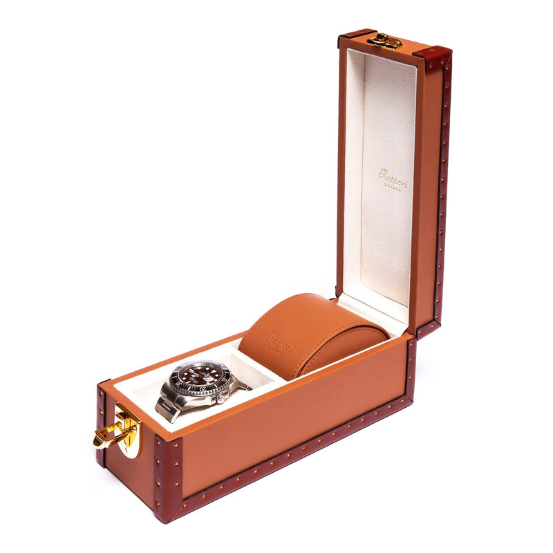 Rapport-Watch Box-Kensington Two Watch Box-Tan