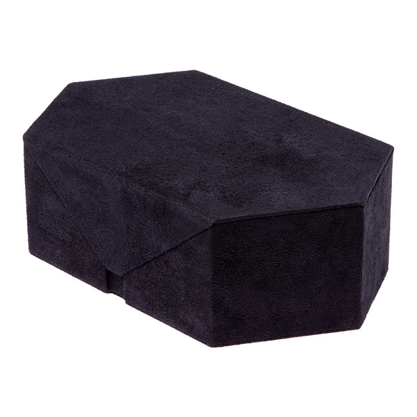 Rapport--Tangram Black Suede Accessory Box-