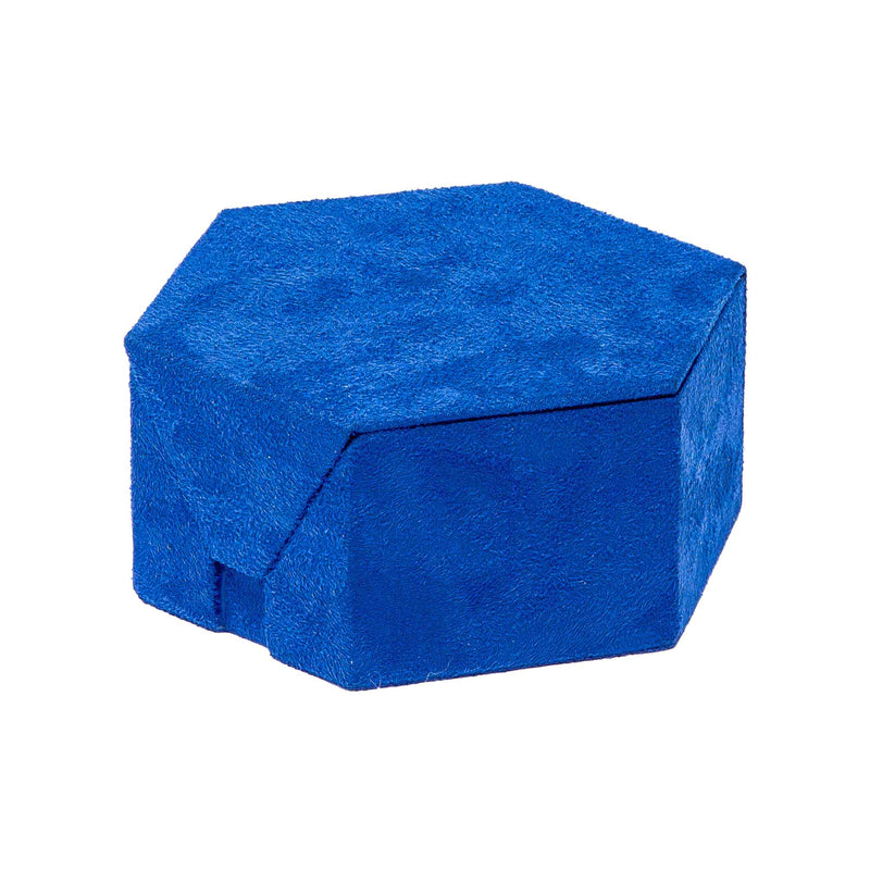 Rapport--Tangram Blue Suede Accessory Box-