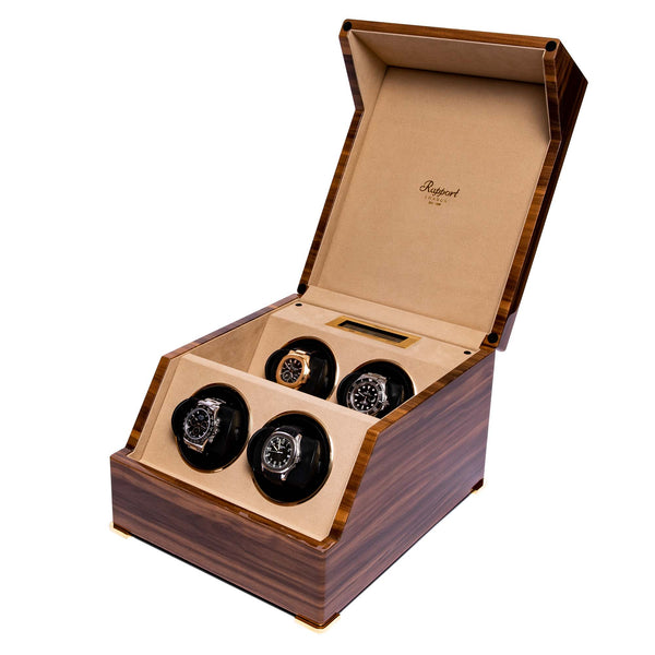 Rapport-Watch Winder-Perpetua III Quad Watch Winder-