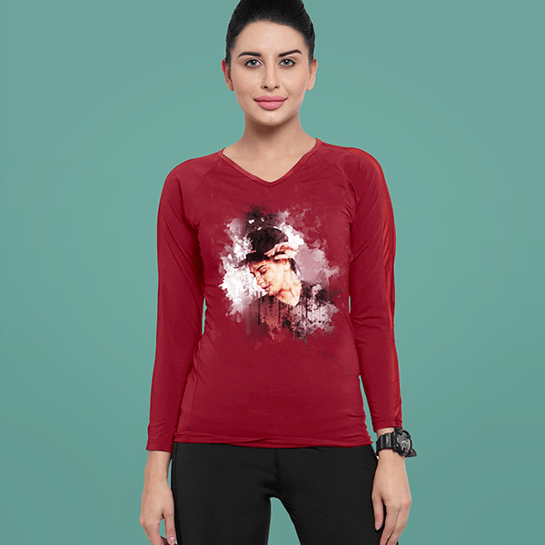 Women's V Neck - Full Sleeve T-Shirt - shotarts
